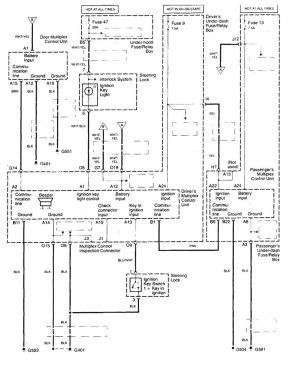 Acura TL (1998  1999)  wiring diagrams  body controls