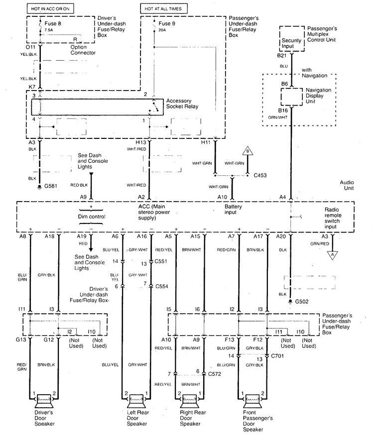 acura tl car wiring diagram