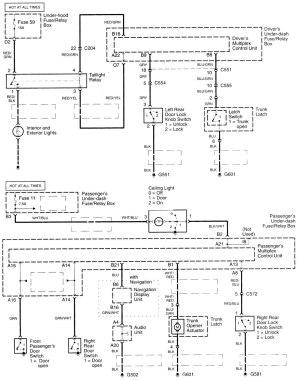 Acura TL (2000  2001)  wiring diagrams  power locks