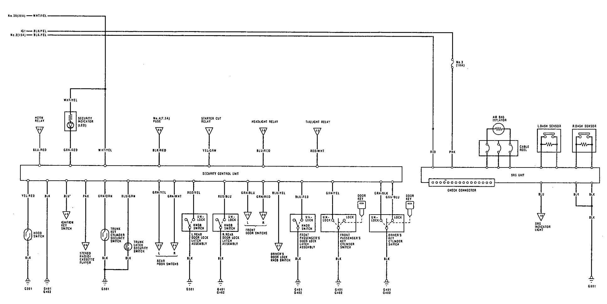 hight resolution of 1992 integra fuse box diagram