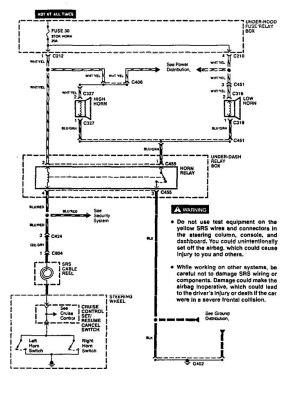 Acura Vigor (1994)  wiring diagrams  horn  CARKNOWLEDGE