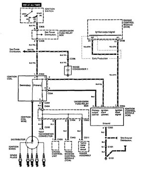 Acura Vigor (1994)  wiring diagrams  ignition  CARKNOWLEDGE