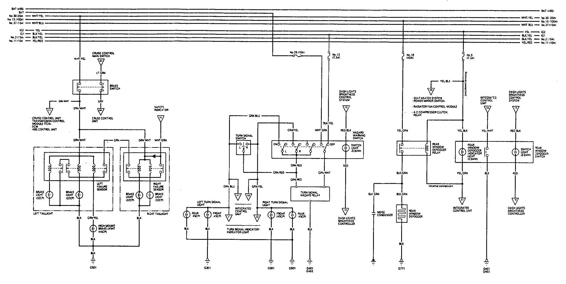 signal stat 900 7 wiring diagram 4 way pallet acura vigor turn great installation of 1993 diagrams lamp flasher