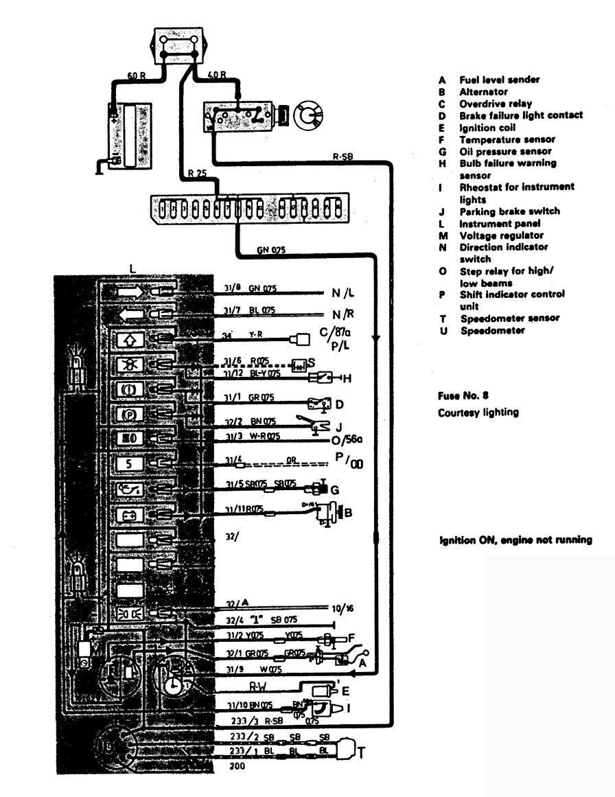 2000 volvo s90 fuse box diagram