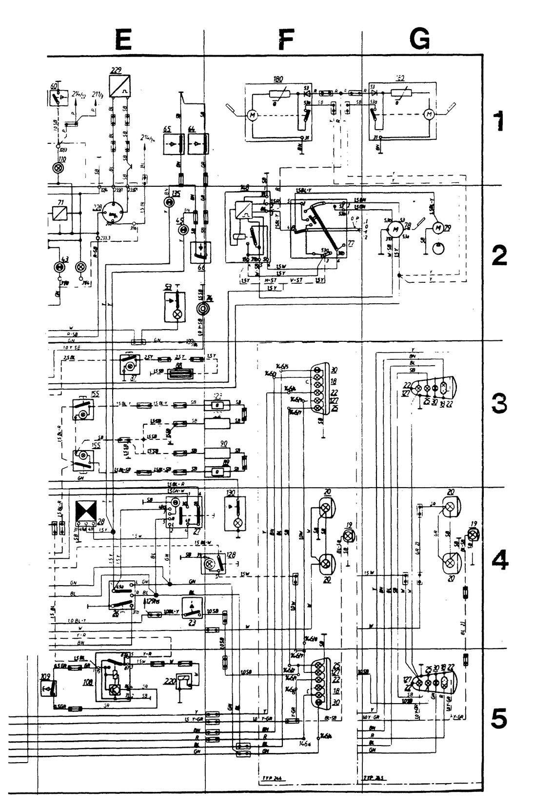 volvo 240 wiring diagram 1989 toro wheel horse 264h 244 diagrams instrumentation