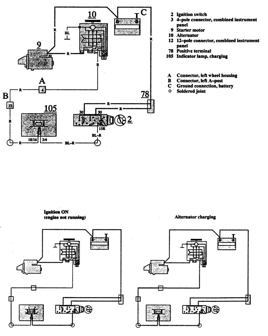medium resolution of volvo 740 1991 wiring diagrams charging system volvo 940 wiring diagram 1991 volvo fuel pump wiring diagram