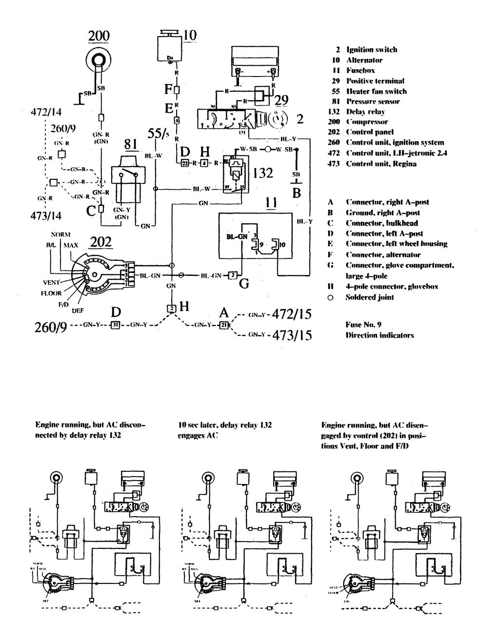 hight resolution of volvo 740 wiring diagram hvac controls part 1