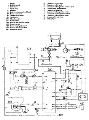 Volvo 740 (1990  1991)  wiring diagrams  ignition