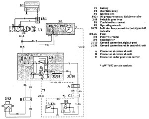 Volvo 740 (1992)  wiring diagrams  overdrive controls