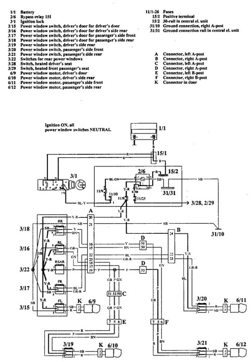 small resolution of volvo 740 1992 wiring diagrams power windows 1998 volvo s70 parts diagram volvo s80 wiring