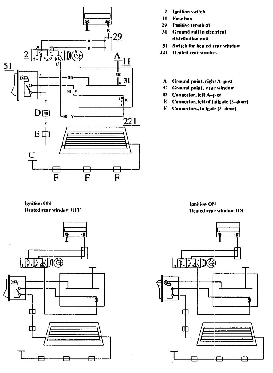 hight resolution of volvo 740 1990 wiring diagrams rear window defogger volvo fuel pump wiring diagram volvo vn wiring