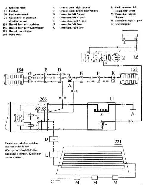 small resolution of volvo 740 1990 wiring diagrams rear window defogger 2004 acura tl stereo wiring diagram acura tl