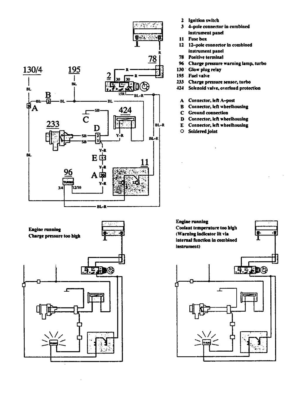 hight resolution of volvo 740 wiring diagram warning indicator