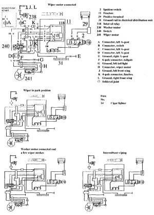 Volvo 740 (1990  1991)  wiring diagrams  wiperwasher  CARKNOWLEDGE