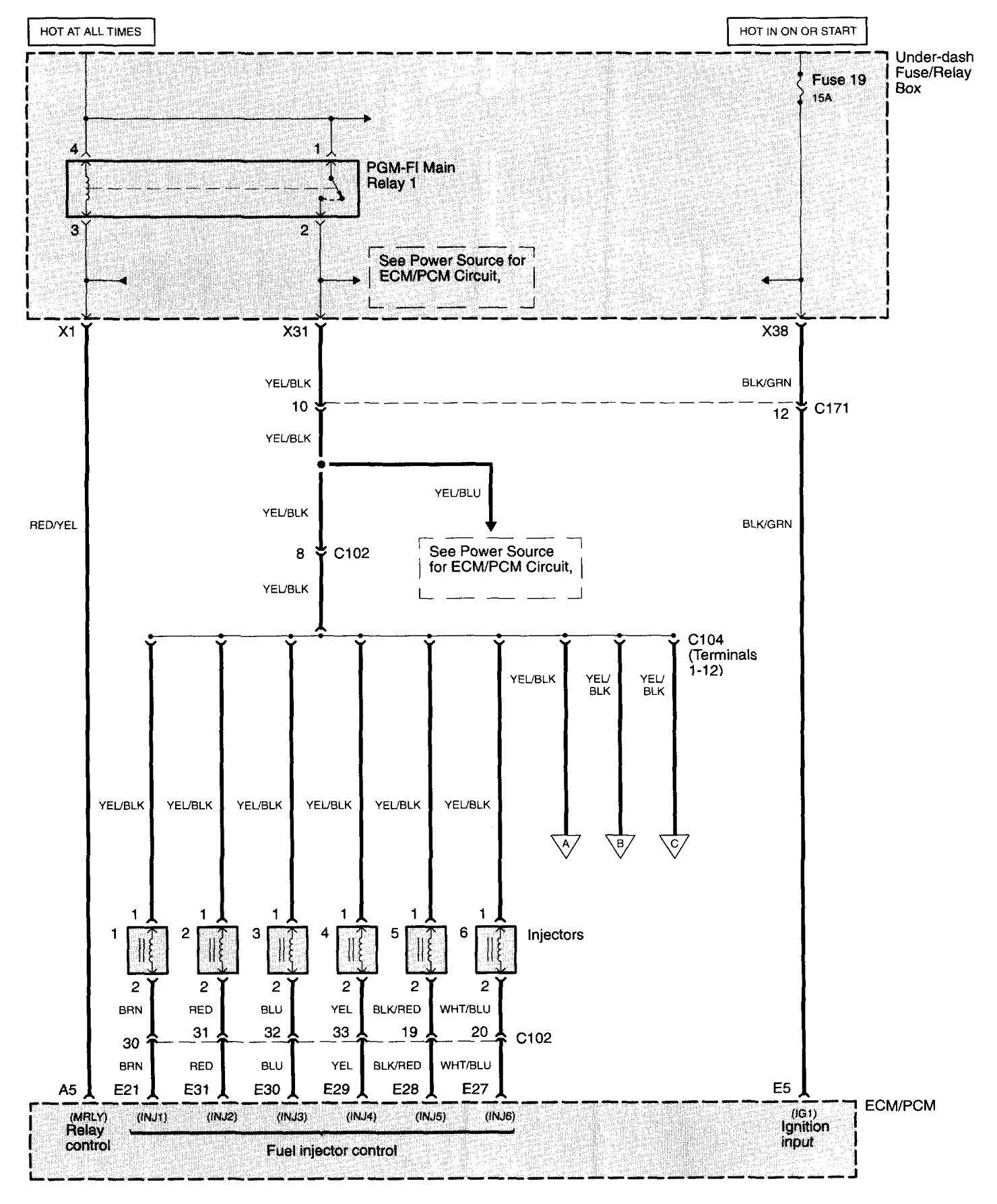 acura cl engine harness diagram