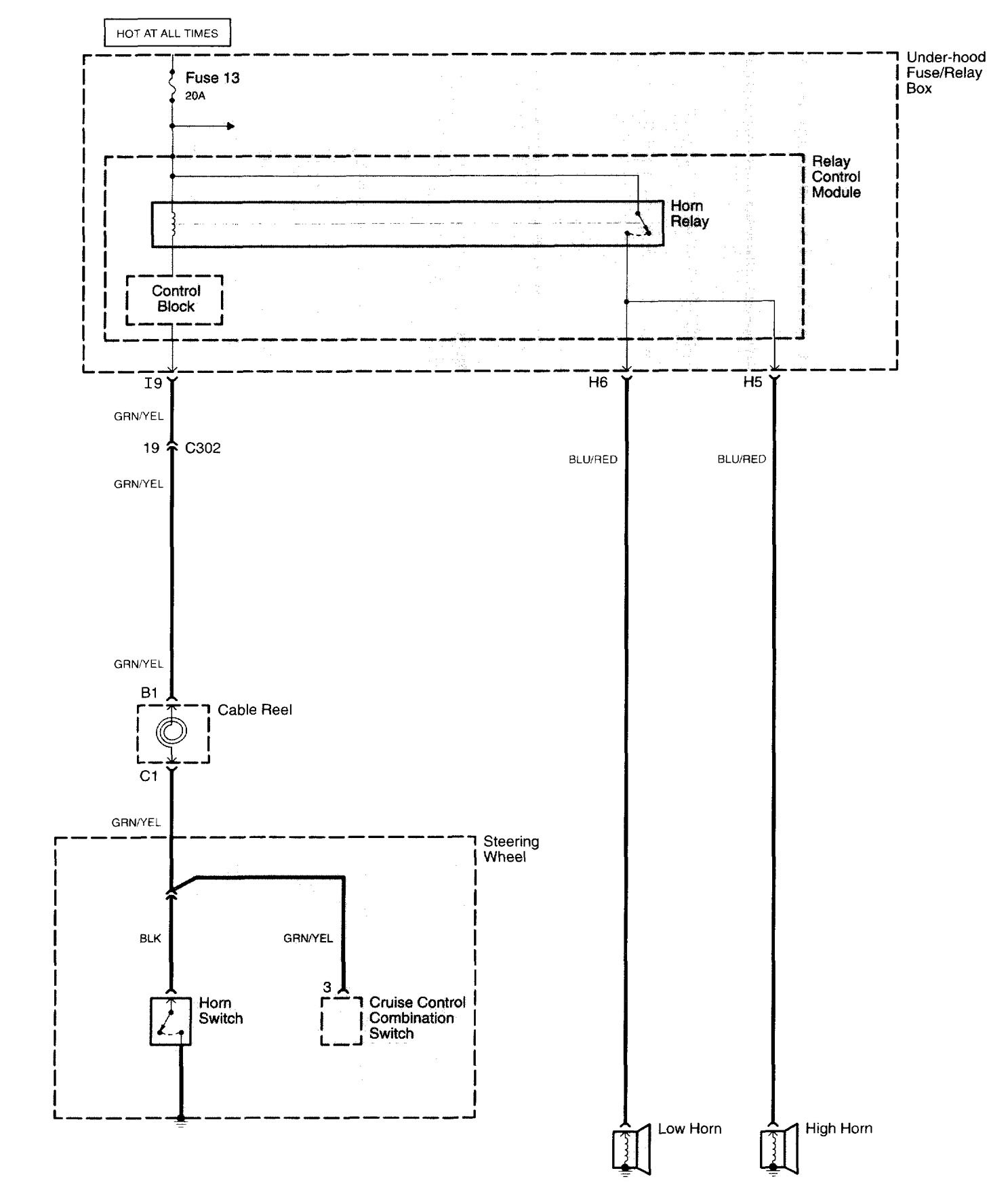wiring diagram of a car horn 1995 nissan pickup radio acura tl 2006 diagrams carknowledge