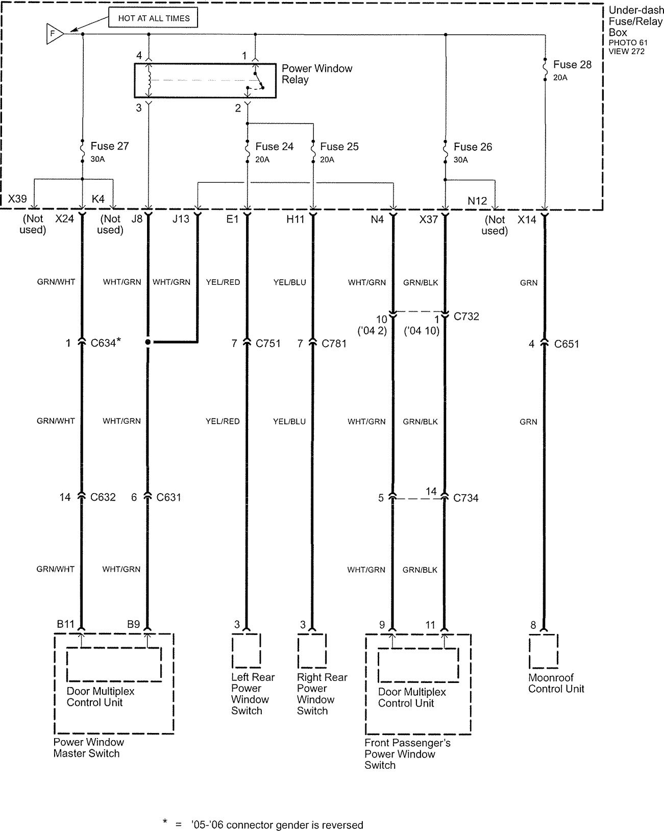 hight resolution of  acura tl wiring diagram power distribution part 6