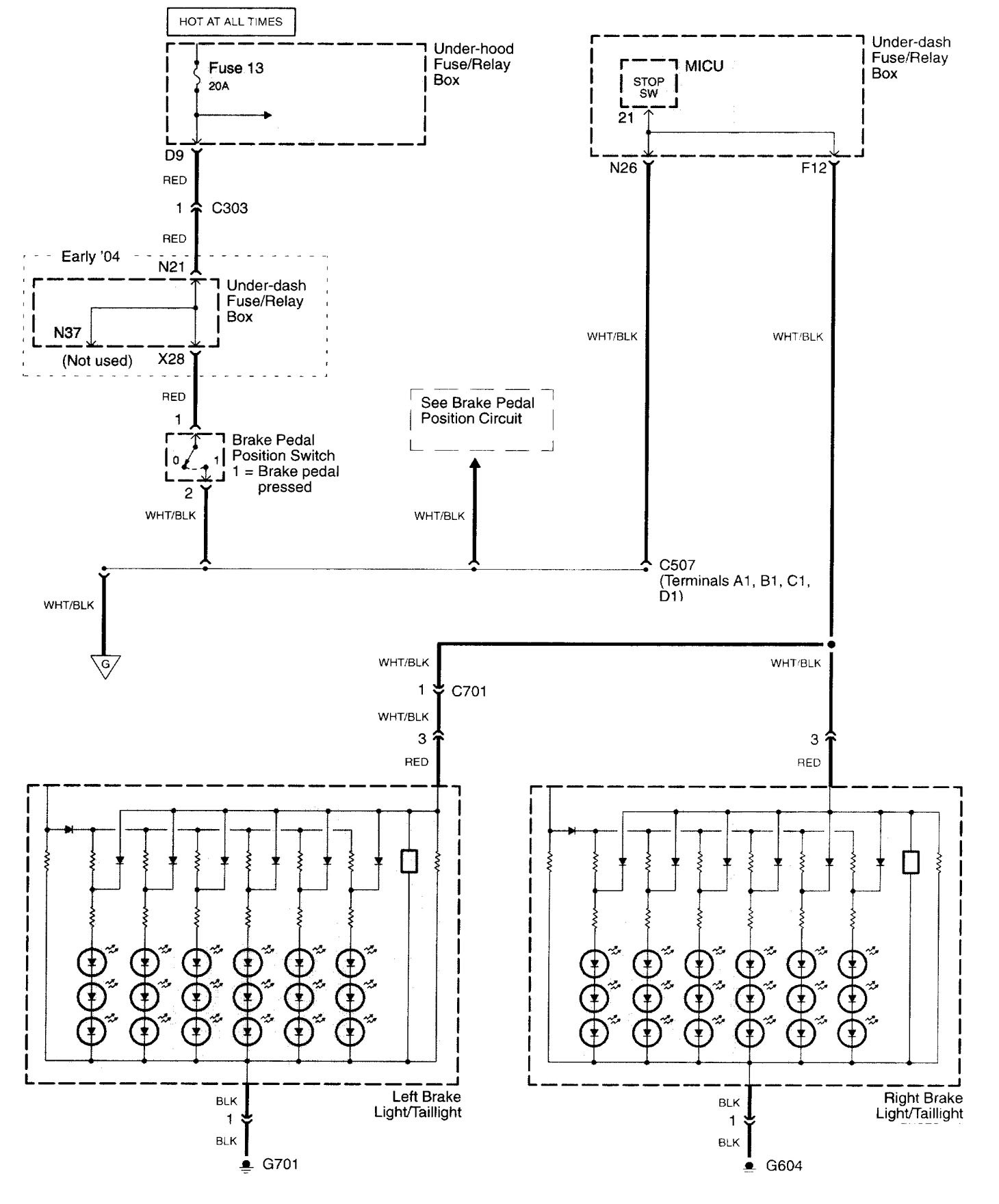 hight resolution of acura tl wiring diagram stop lamp part 1