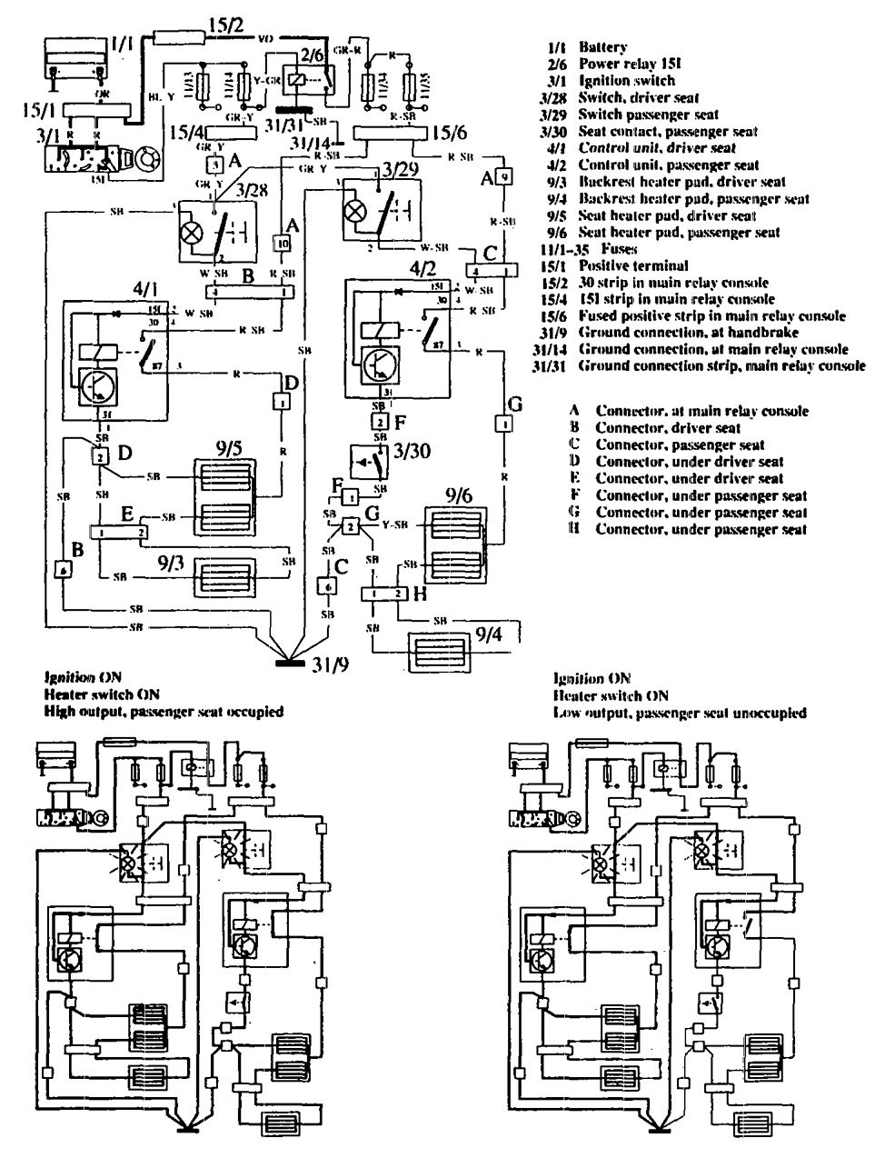 hight resolution of volvo 760 1990 wiring diagrams heated seats