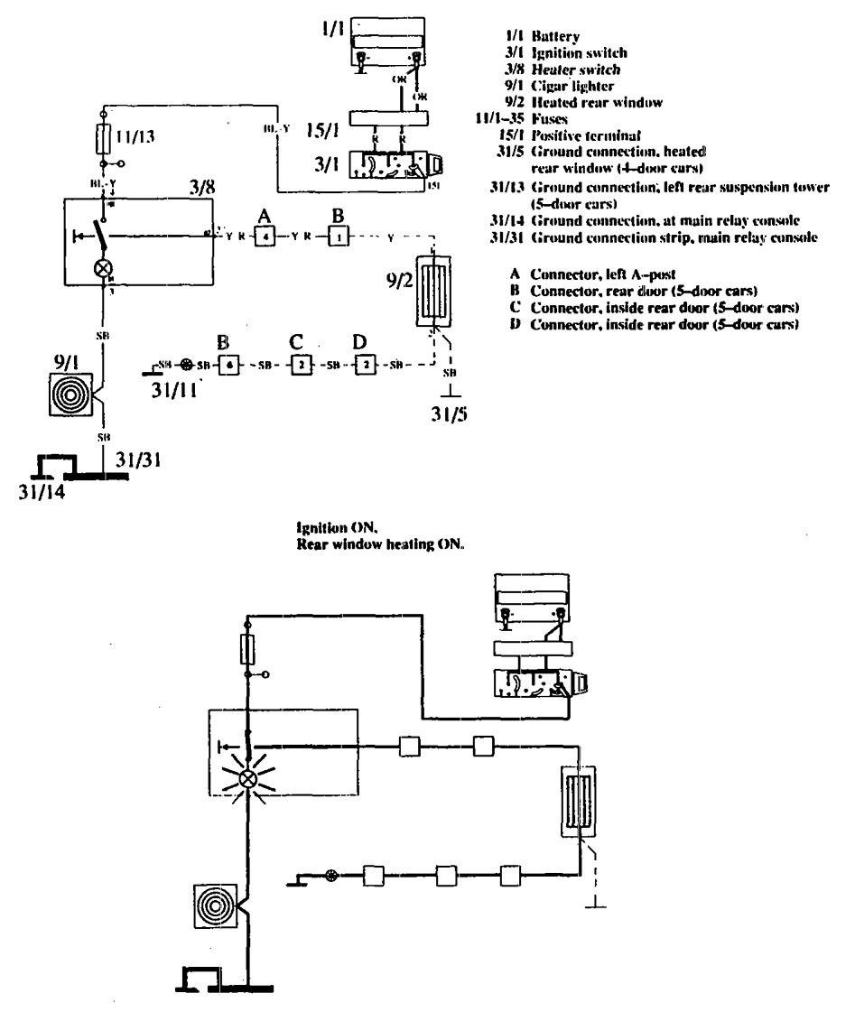 hight resolution of volvo 760 1990 wiring diagrams rear window defogger