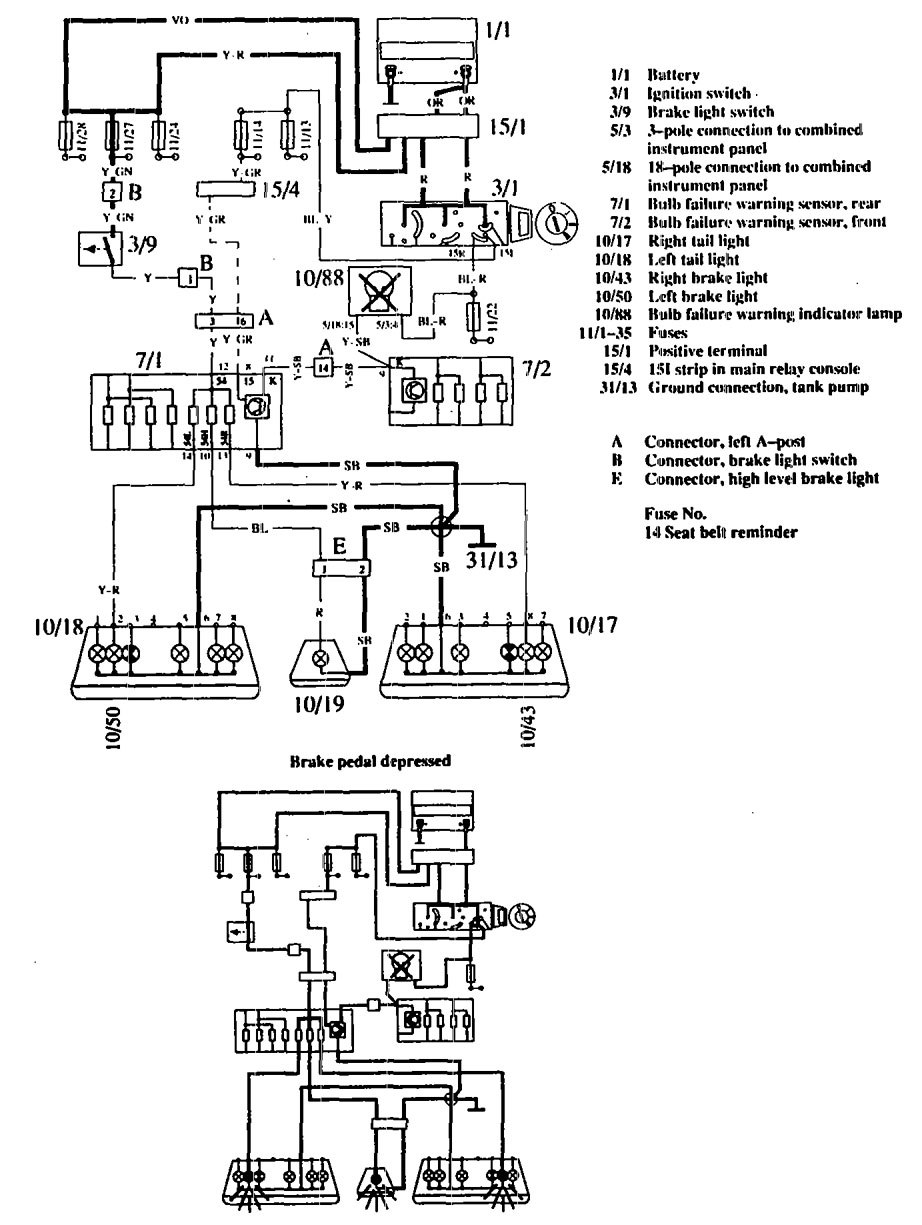 hight resolution of volvo 760 1990 wiring diagrams stop lamp carknowledge