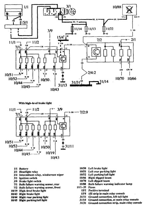 small resolution of volvo 760 1990 wiring diagrams warning lamps