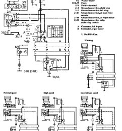 volvo 760 1990 wiring diagrams wiper washer [ 935 x 1217 Pixel ]