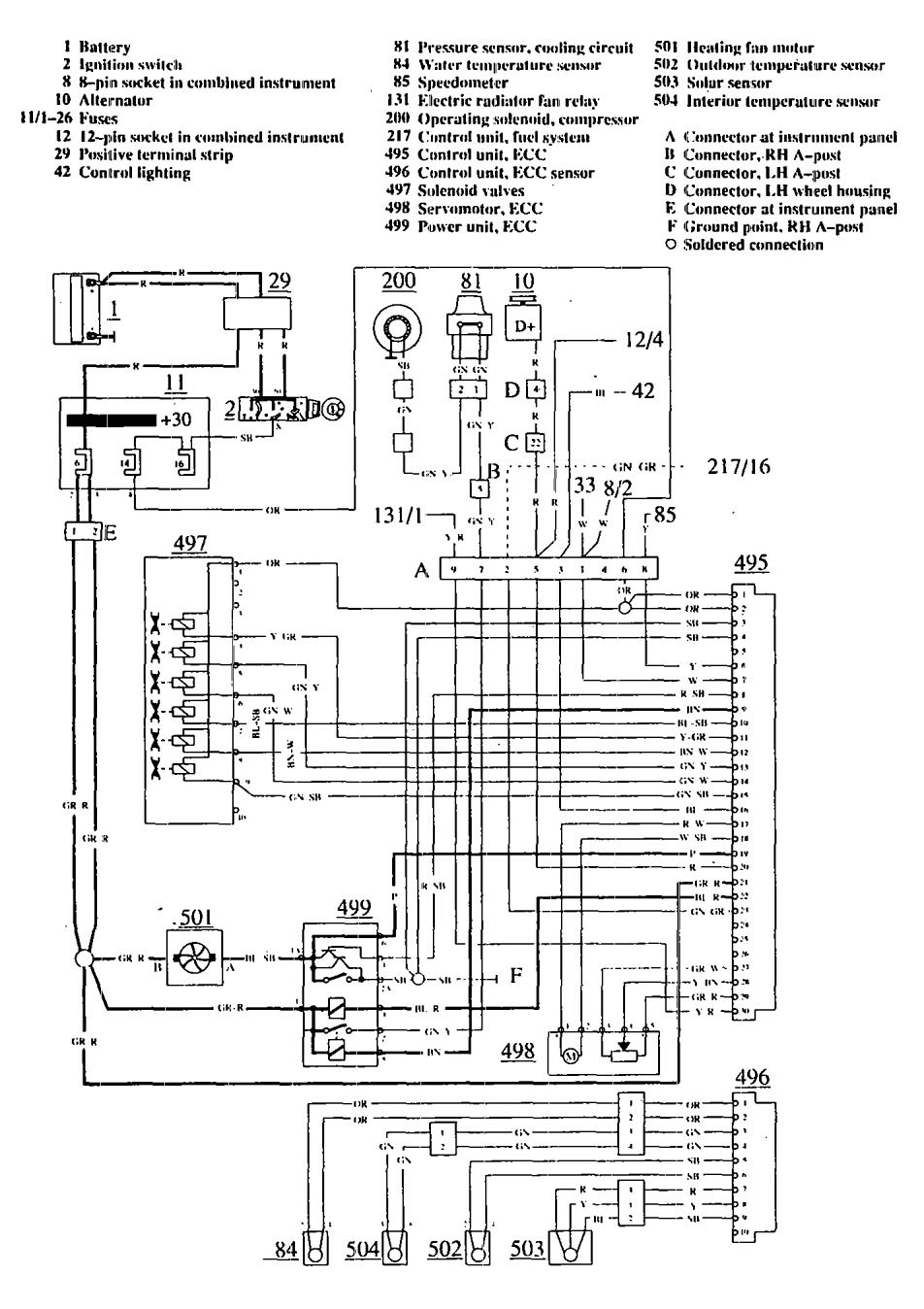 hight resolution of volvo 780 1990 1991 wiring diagrams hvac controls