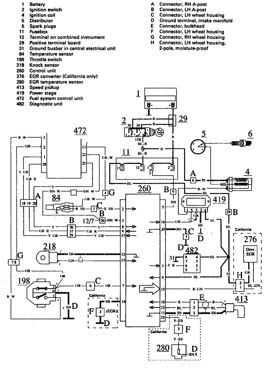 1990 audi 100 fuse box diagram
