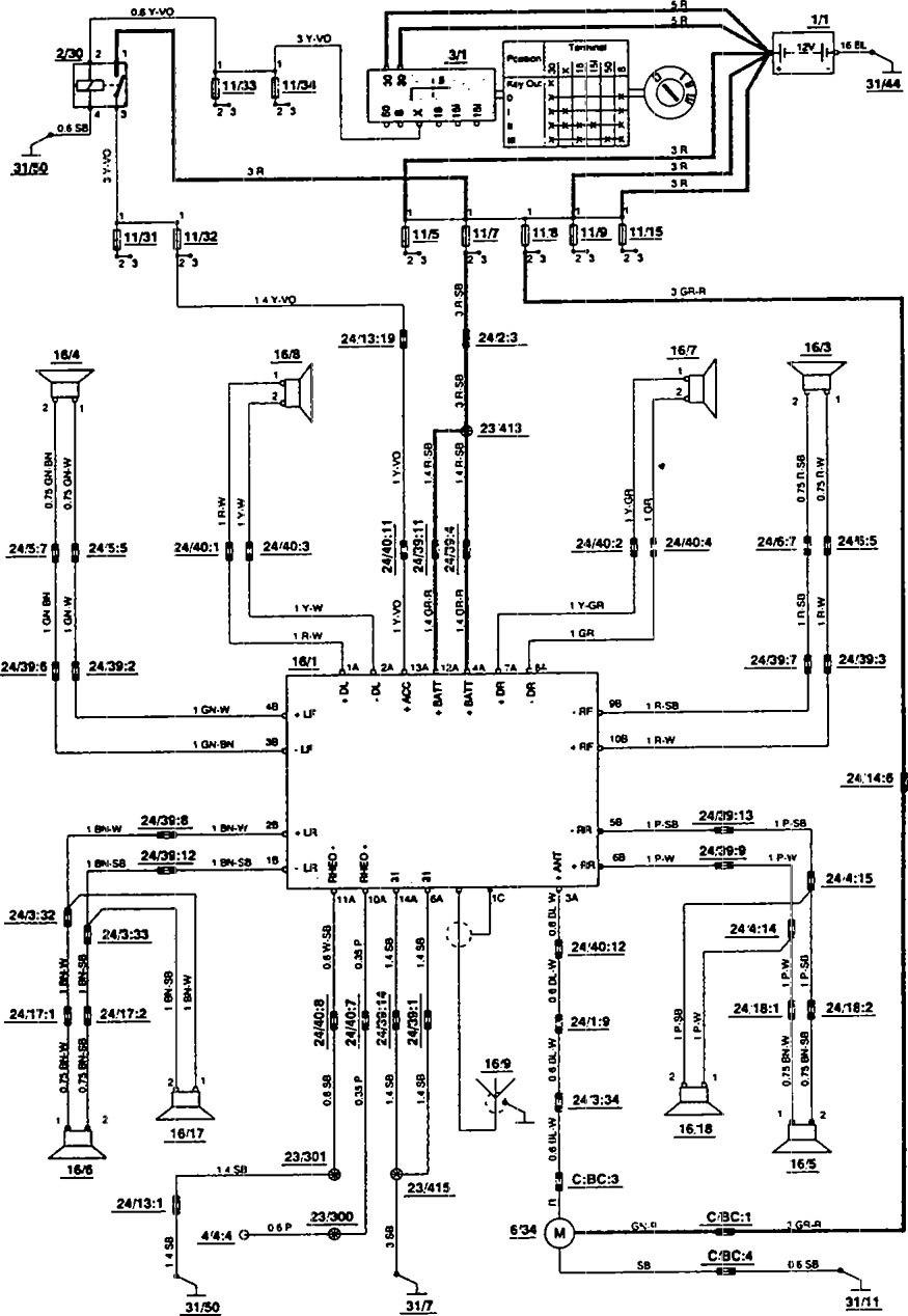 medium resolution of volvo 850 1993 1994 wiring diagrams audio