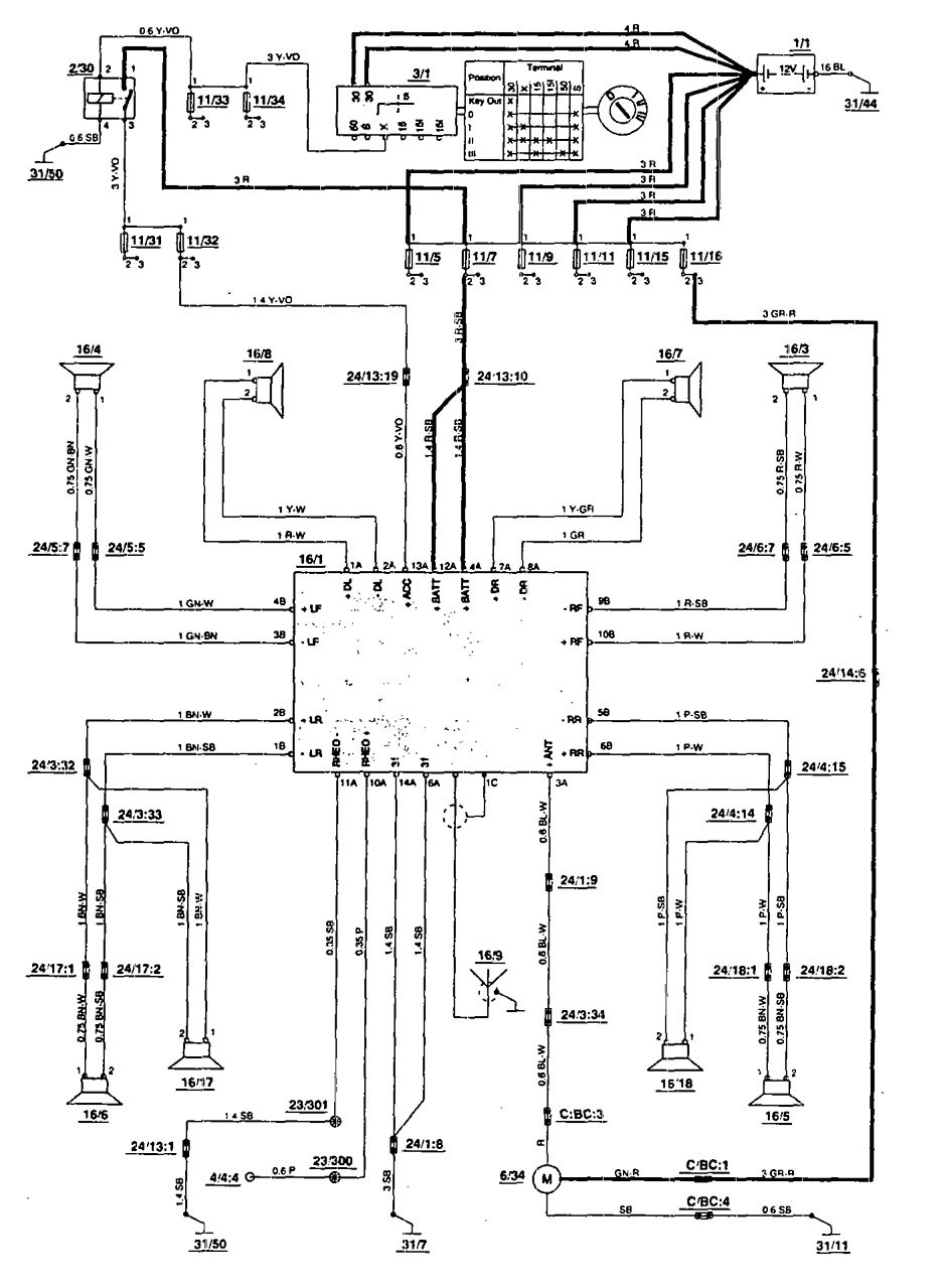 1993 volvo 240 stereo wiring diagram universal ignition switch 1989 740 database 940 1995 best library honda civic diagrams