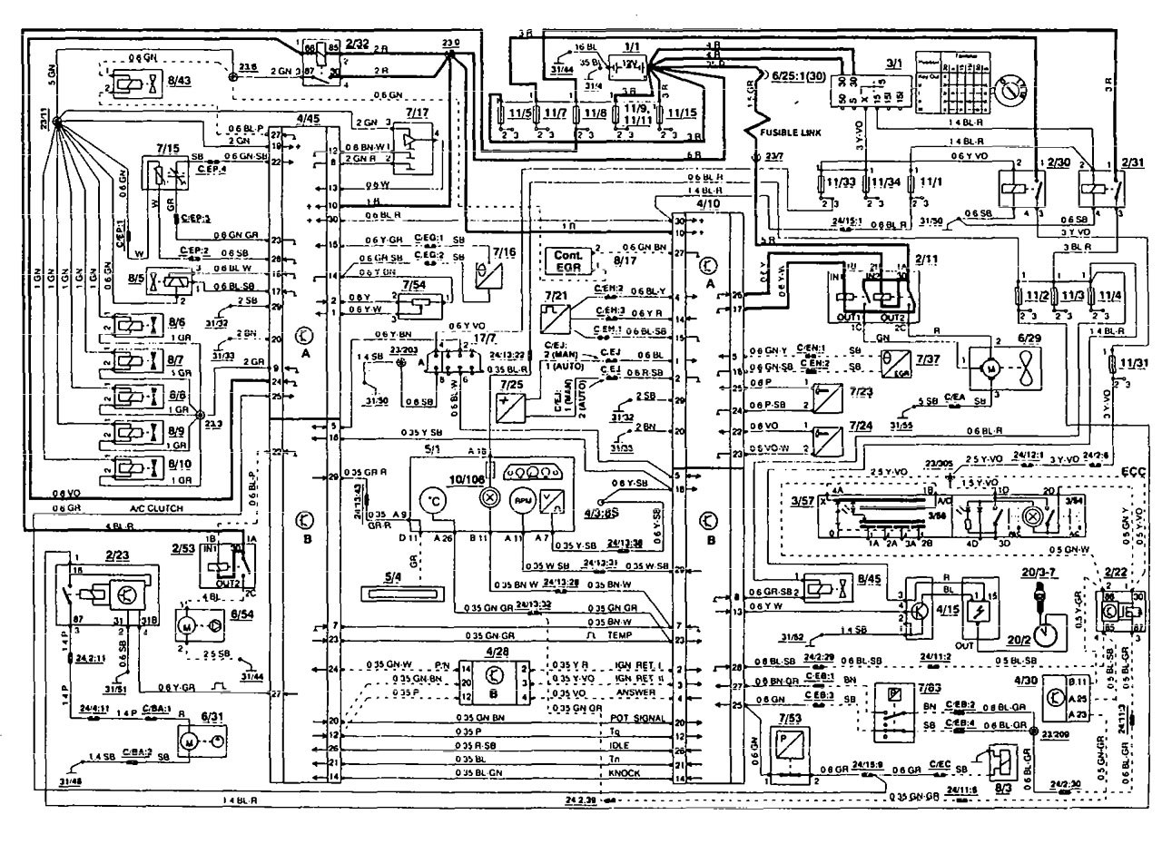 volvo wiring diagrams 850 single phase fan motor diagram with capacitor 1994 fuel controls