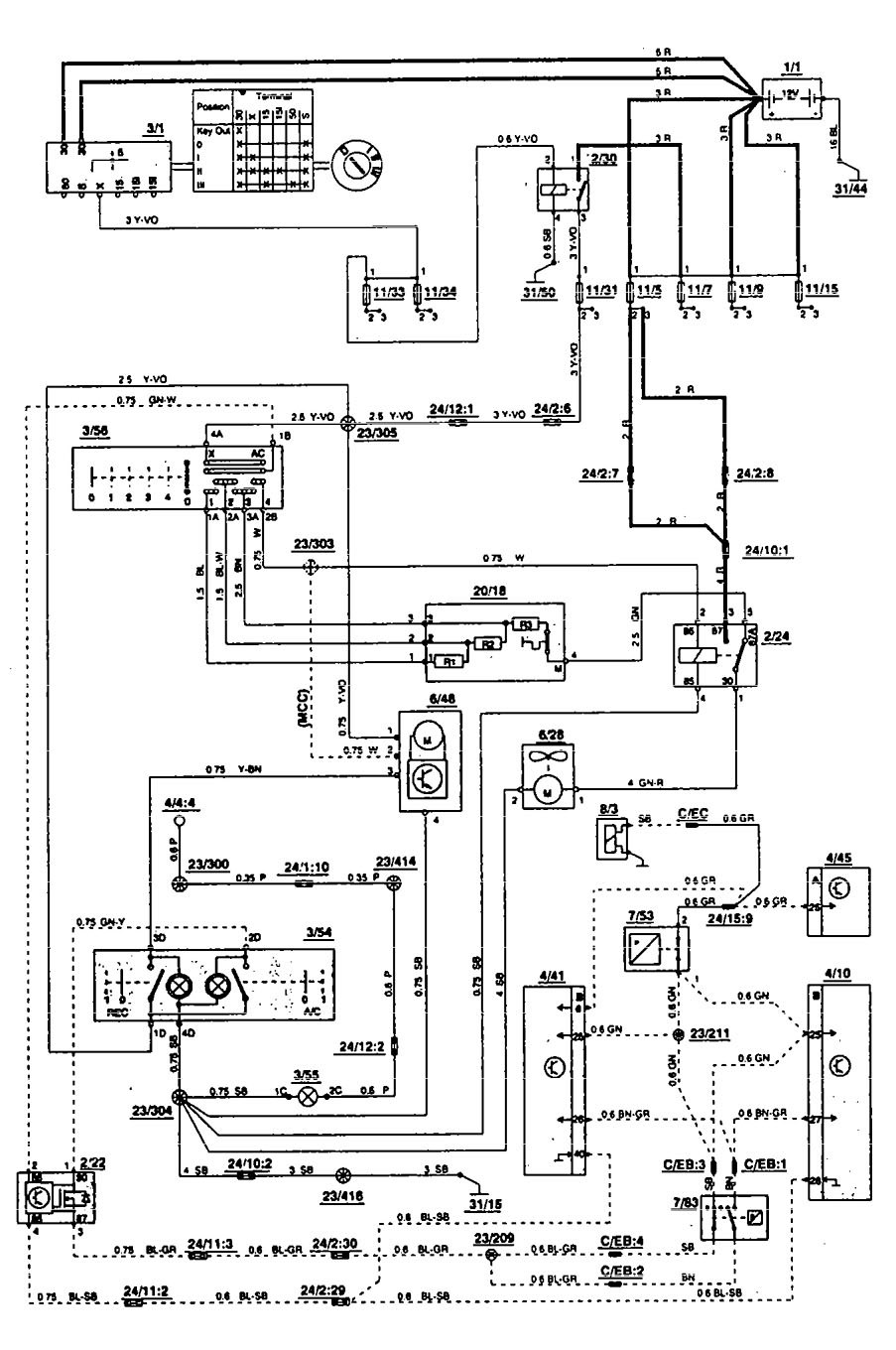 hight resolution of 1993 volvo 850 engine diagram