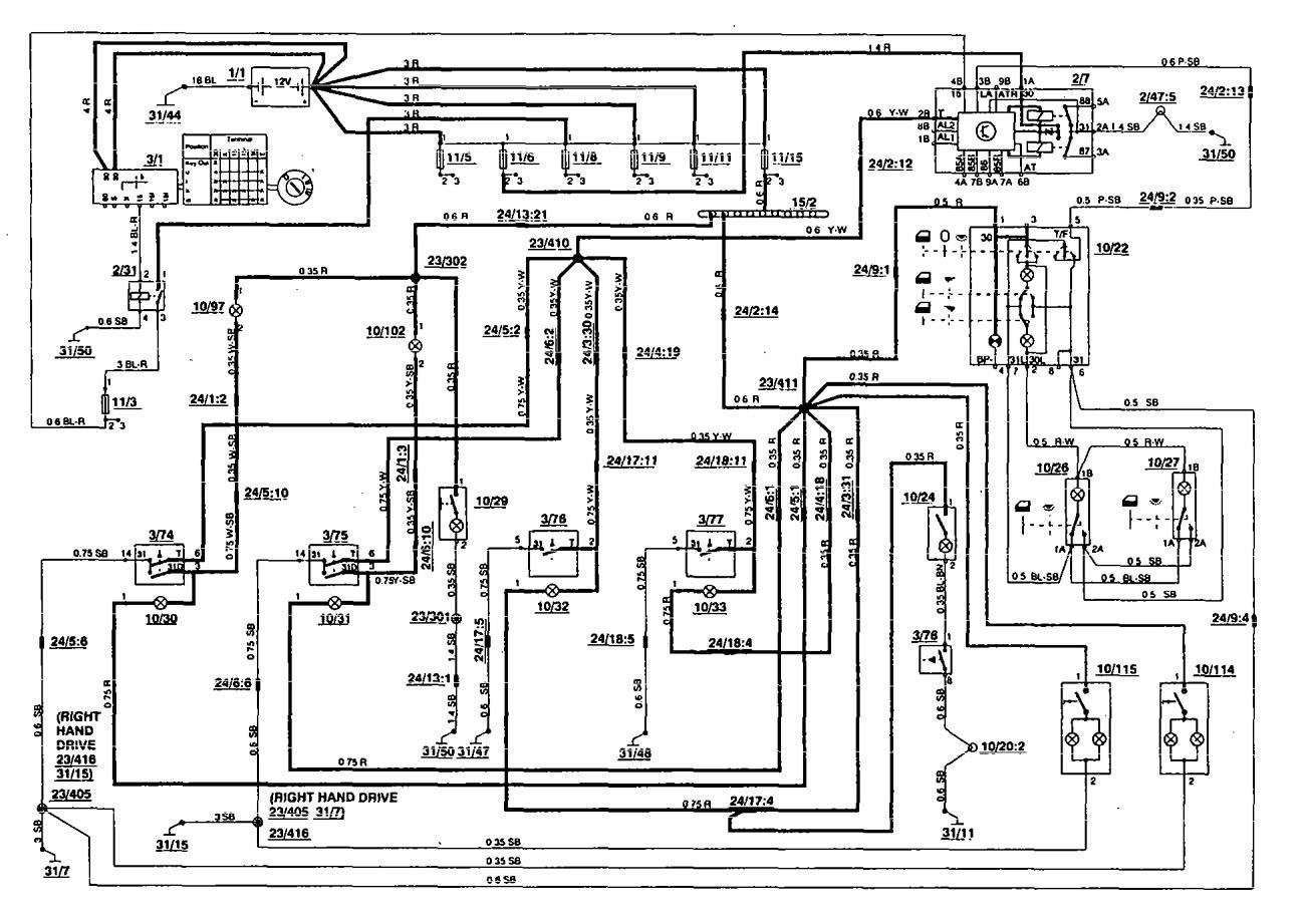 volvo wiring diagrams 850 2005 honda accord v6 diagram 1994 interior lighting