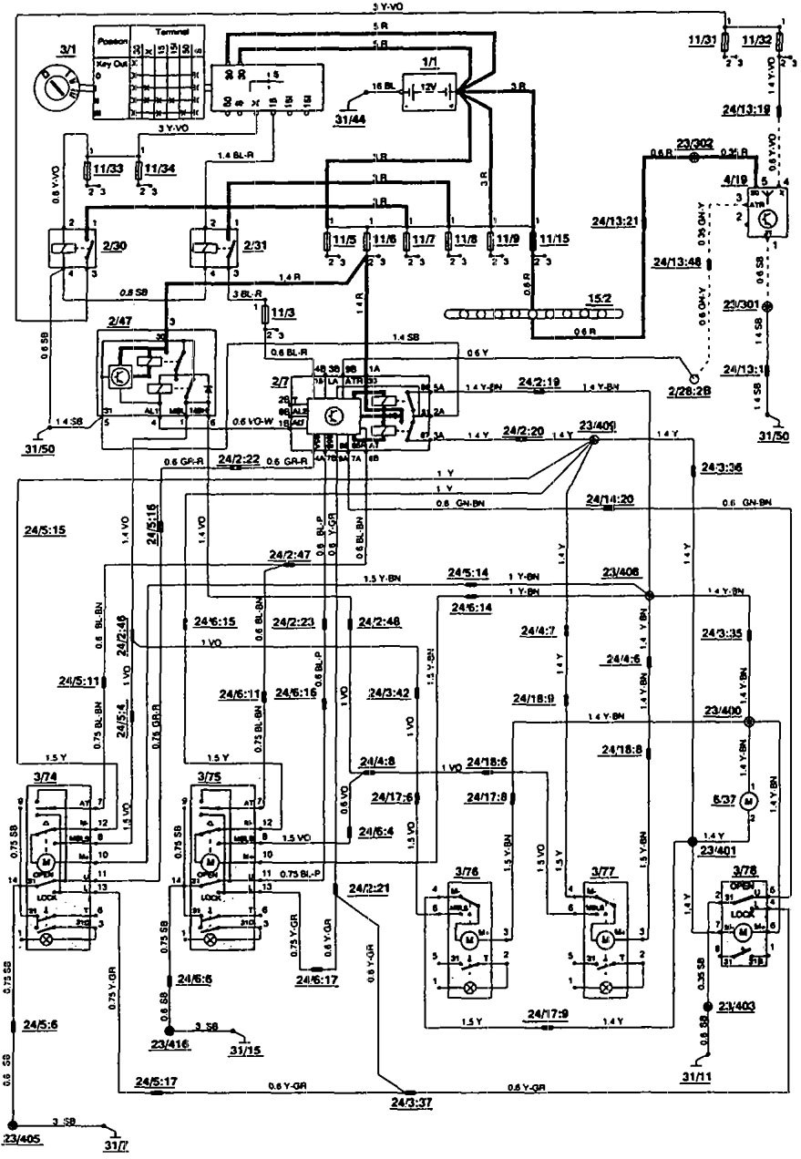 related with wiring diagram volvo 850 glt 1993