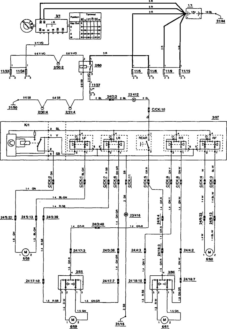1993 Volvo 850 Wiring Diagram