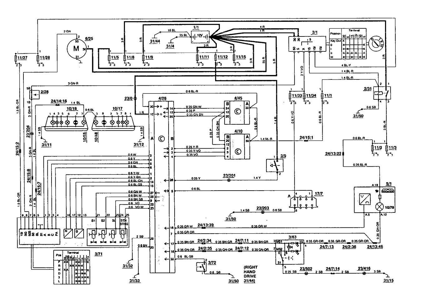 volvo 850 system wiring diagrams translation vs transcription venn diagram 1994 transmission controls
