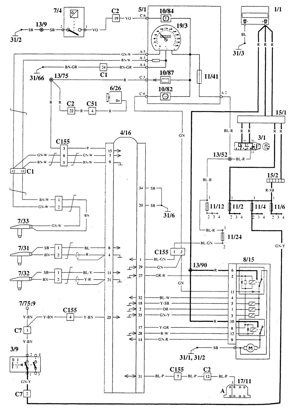 hight resolution of volvo 940 1995 wiring diagrams brake controls carknowledge wiring volvo heavy duty trucks 1995