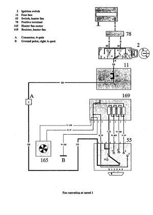 Volvo 940 (1991)  wiring diagrams  Heater fans