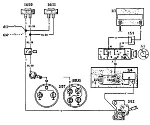 Volvo 940 (1993)  wiring diagrams  horn  CARKNOWLEDGE