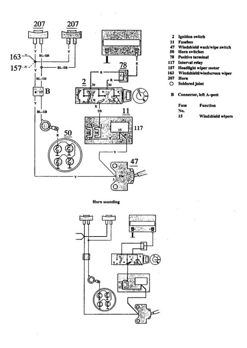 small resolution of volvo 940 wiring diagram horn