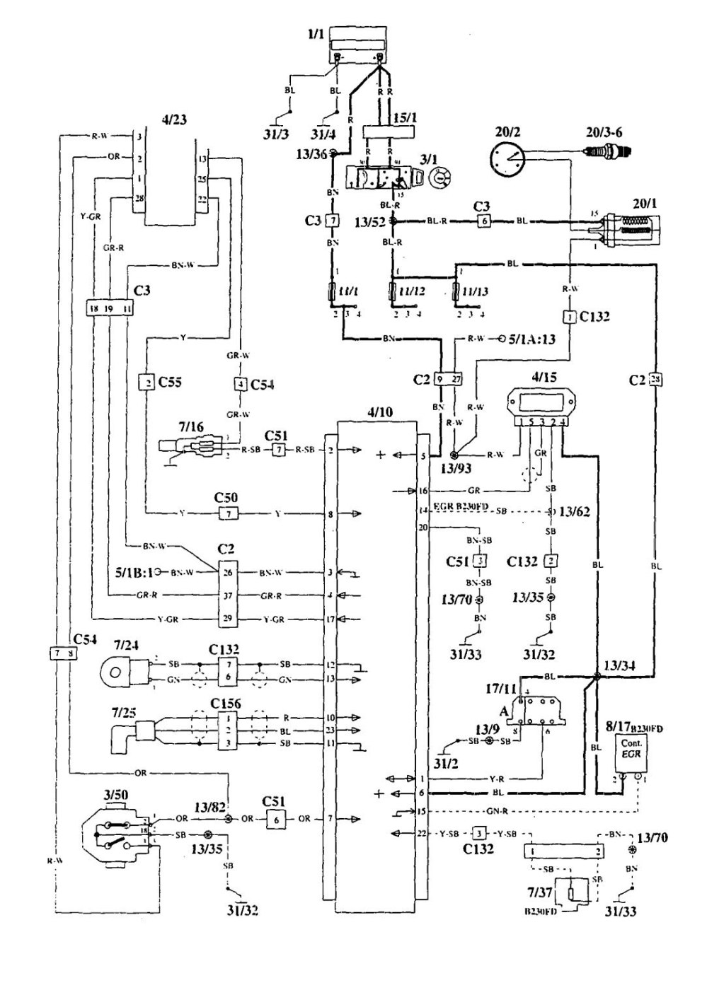 medium resolution of volvo 940 1995 wiring diagrams ignition carknowledge 1993 volvo 940 ignition module 1995 volvo