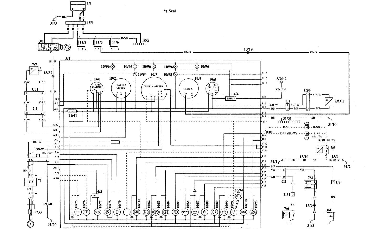 volvo 940 wiring diagram 1995