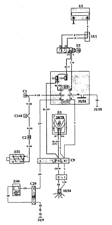 wiring diagram volvo 940 se