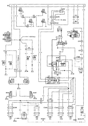 Volvo 940 (1994  1995)  wiring diagrams  securityanti