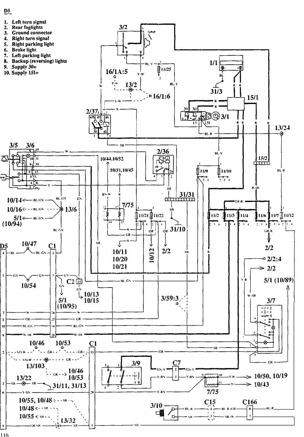 medium resolution of volvo 940 1995 wiring diagrams trailer camper adapter