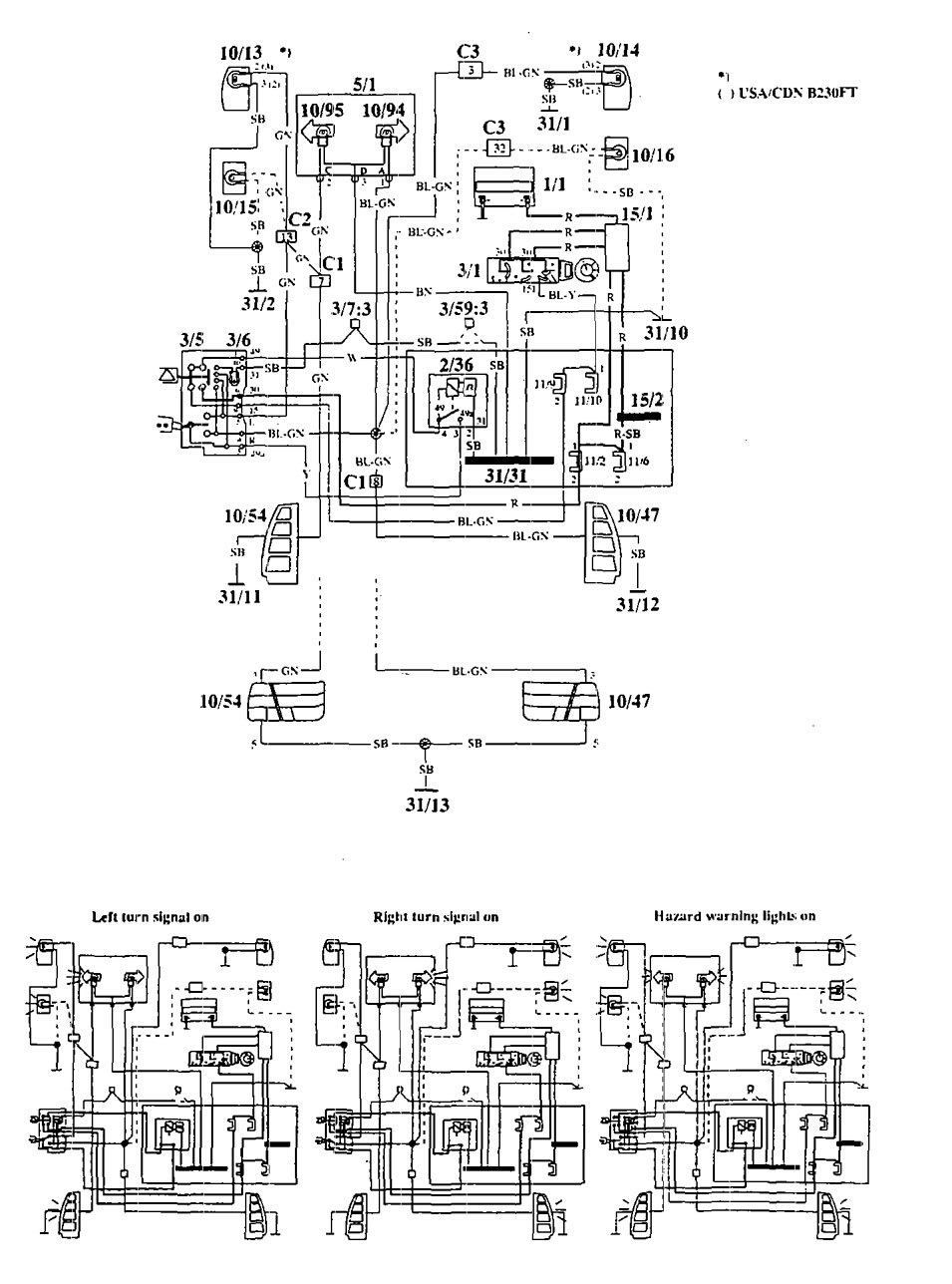 hight resolution of volvo 940 1994 wiring diagrams turn signal lamp 1994 volvo 940 fuse diagram 1994 volvo 940 fuse box