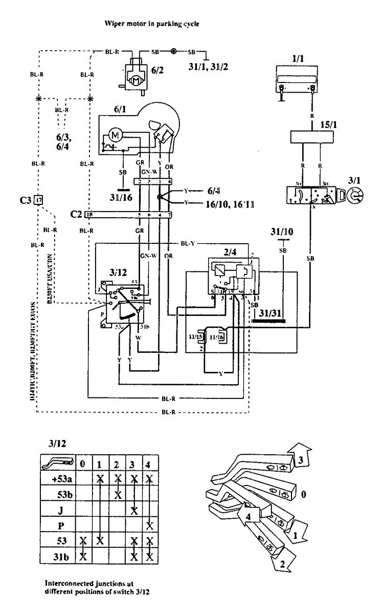 hight resolution of  volvo 940 1994 wiring diagrams wiper washer carknowledge on volvo