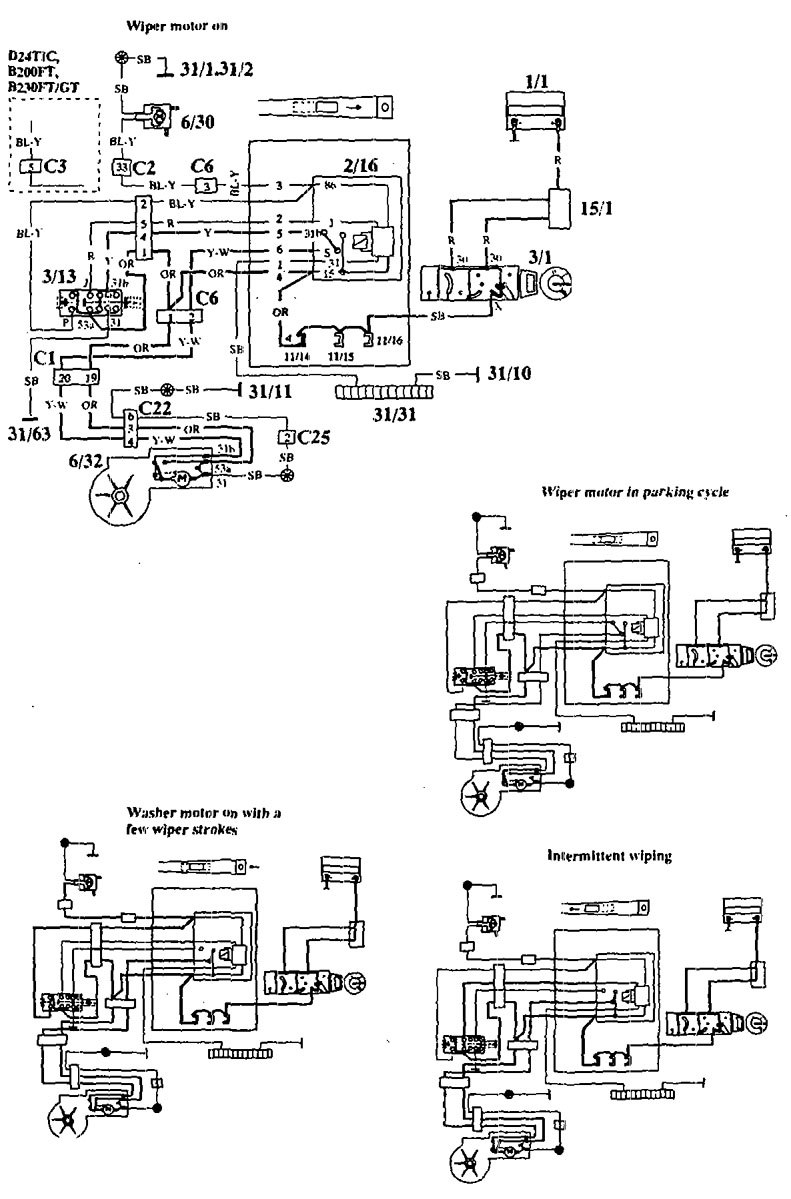 hight resolution of volvo 940 1994 wiring diagrams wiper washer