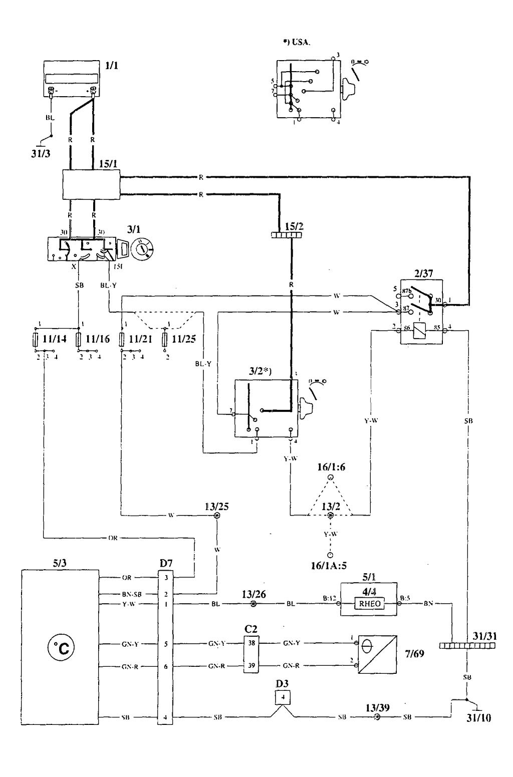 hight resolution of volvo 940 wiring diagrams electronic compass outside temperature part 1